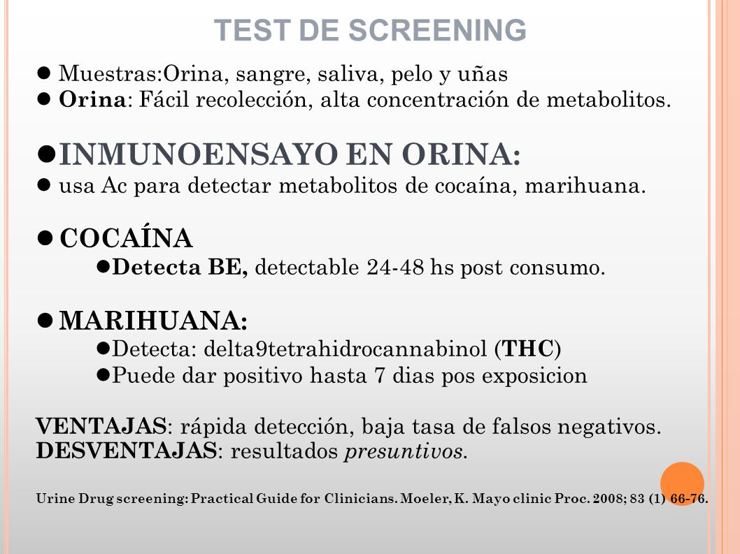 urine drug screening practical guide for clinicians