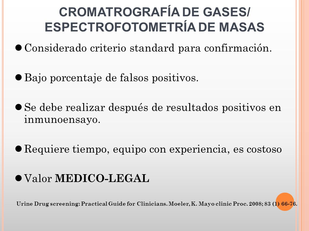 CROMATROGRAFÍA DE GASES/ ESPECTROFOTOMETRÍA DE MASAS