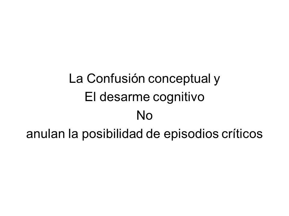 La Confusión conceptual y El desarme cognitivo No