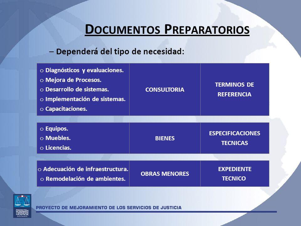 Documentos Preparatorios