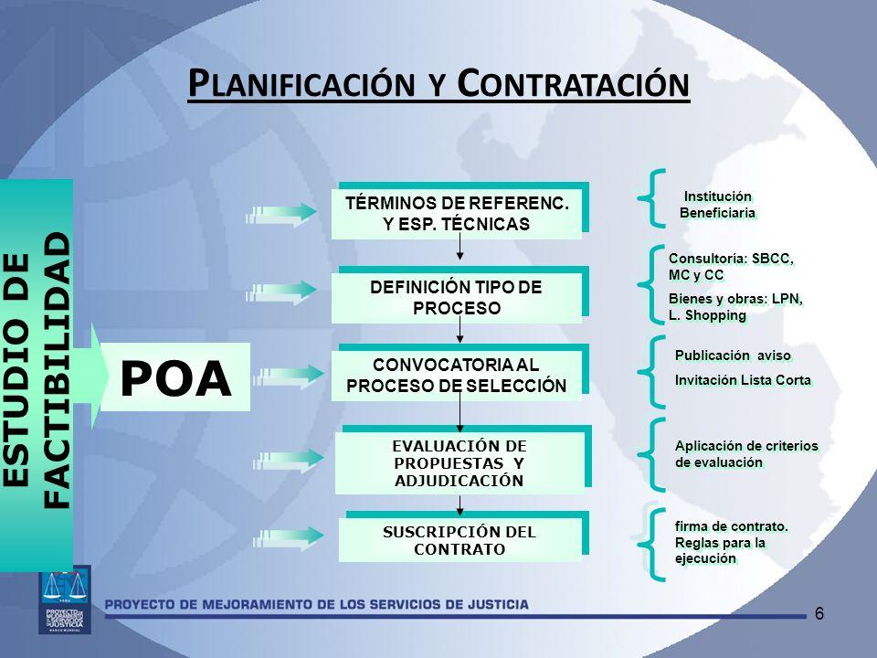 Planificación y Contratación