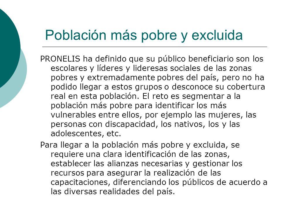 Población más pobre y excluida
