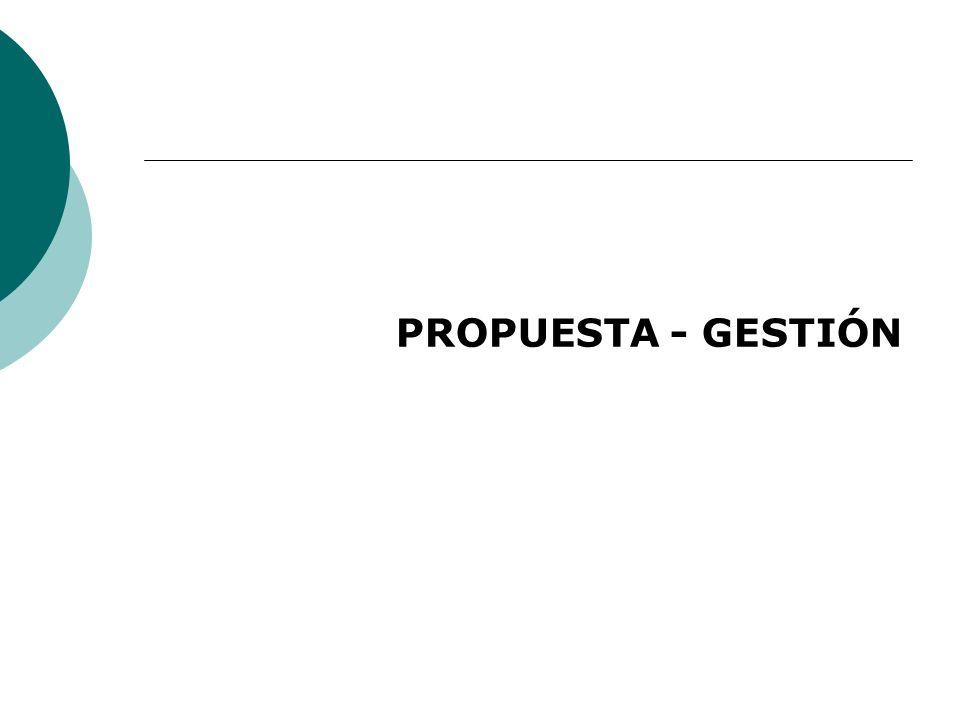 PROPUESTA - GESTIÓN