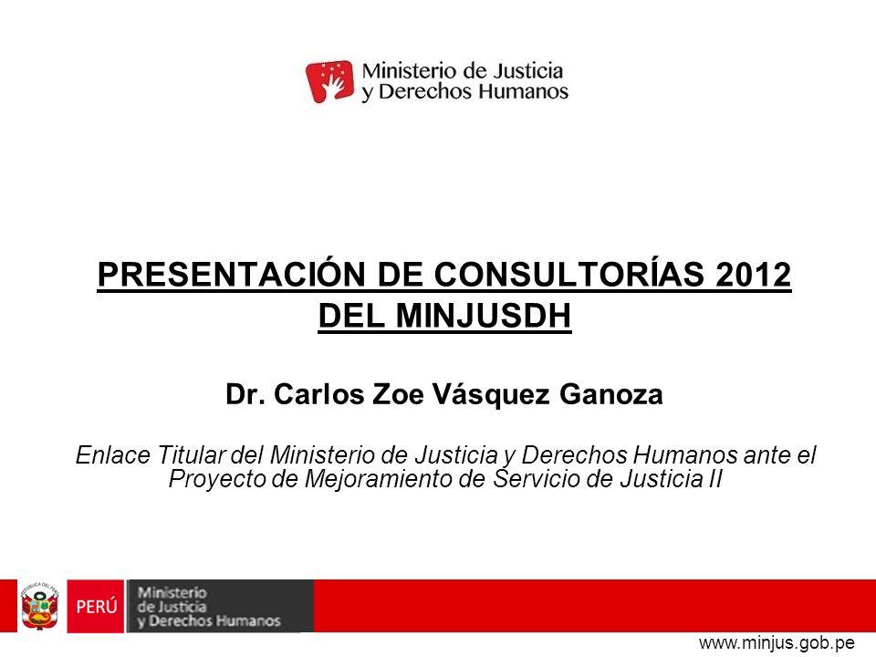 PRESENTACIÓN DE CONSULTORÍAS 2012 DEL MINJUSDH