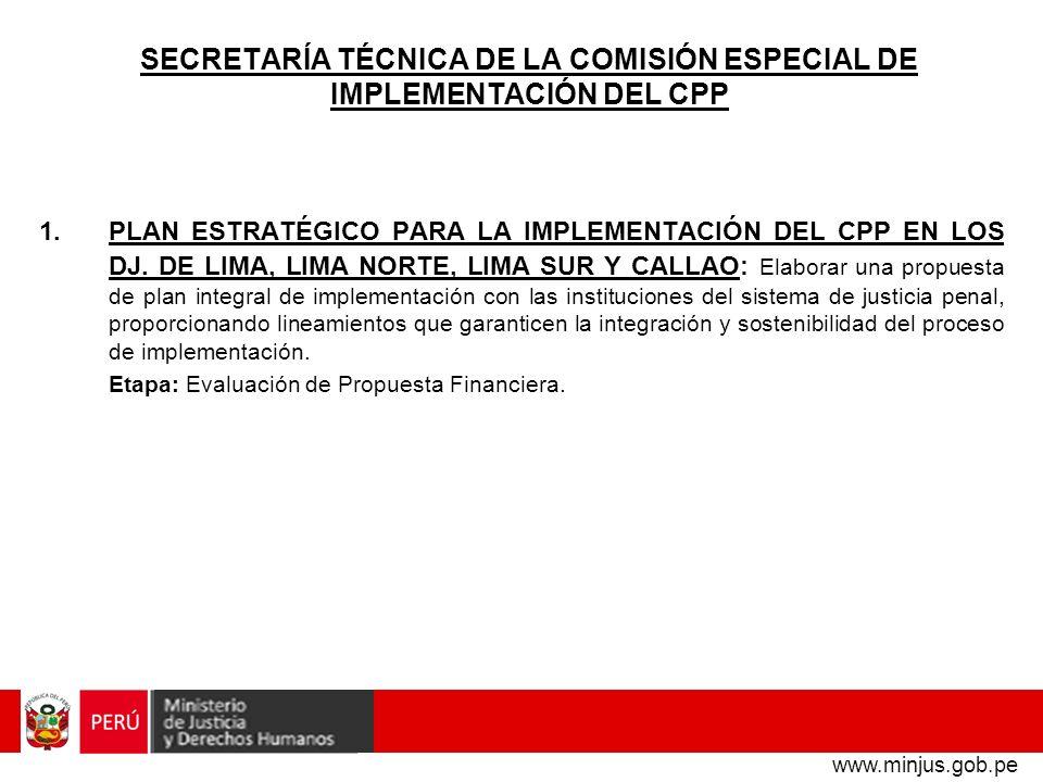 SECRETARÍA TÉCNICA DE LA COMISIÓN ESPECIAL DE IMPLEMENTACIÓN DEL CPP