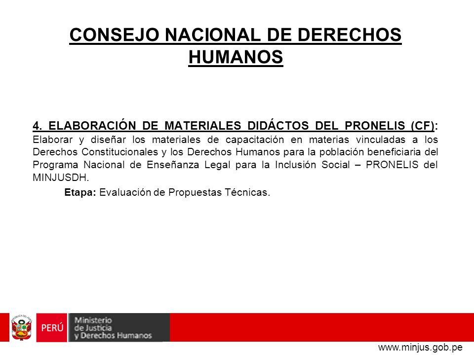 CONSEJO NACIONAL DE DERECHOS HUMANOS