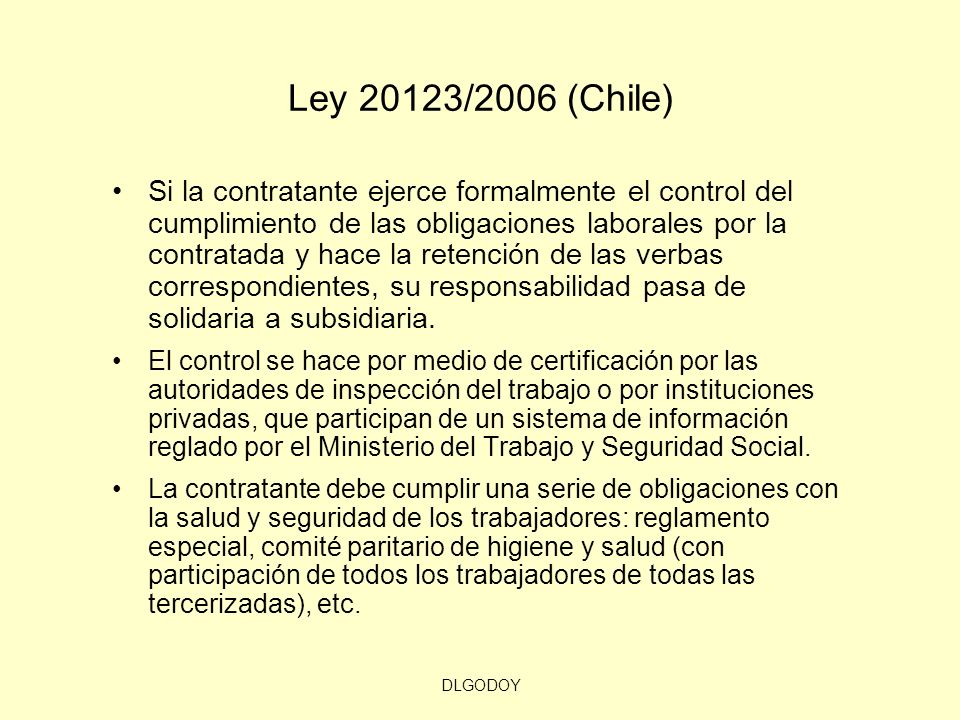 Ley 20123/2006 (Chile)