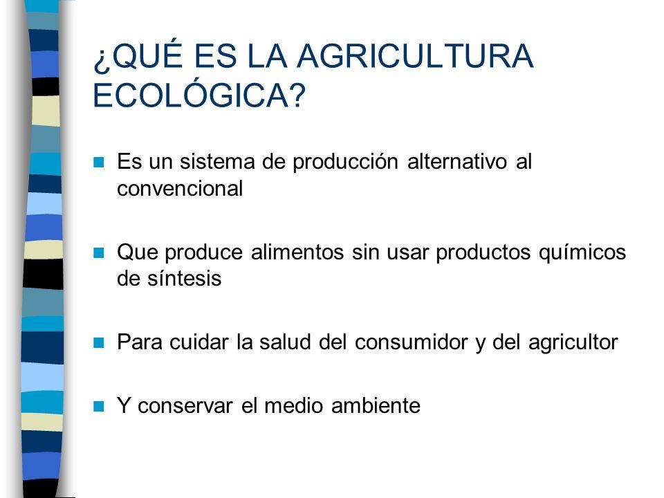 ¿QUÉ ES LA AGRICULTURA ECOLÓGICA