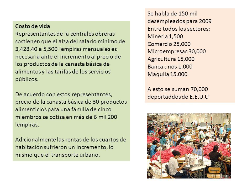 Se habla de 150 mil desempleados para 2009