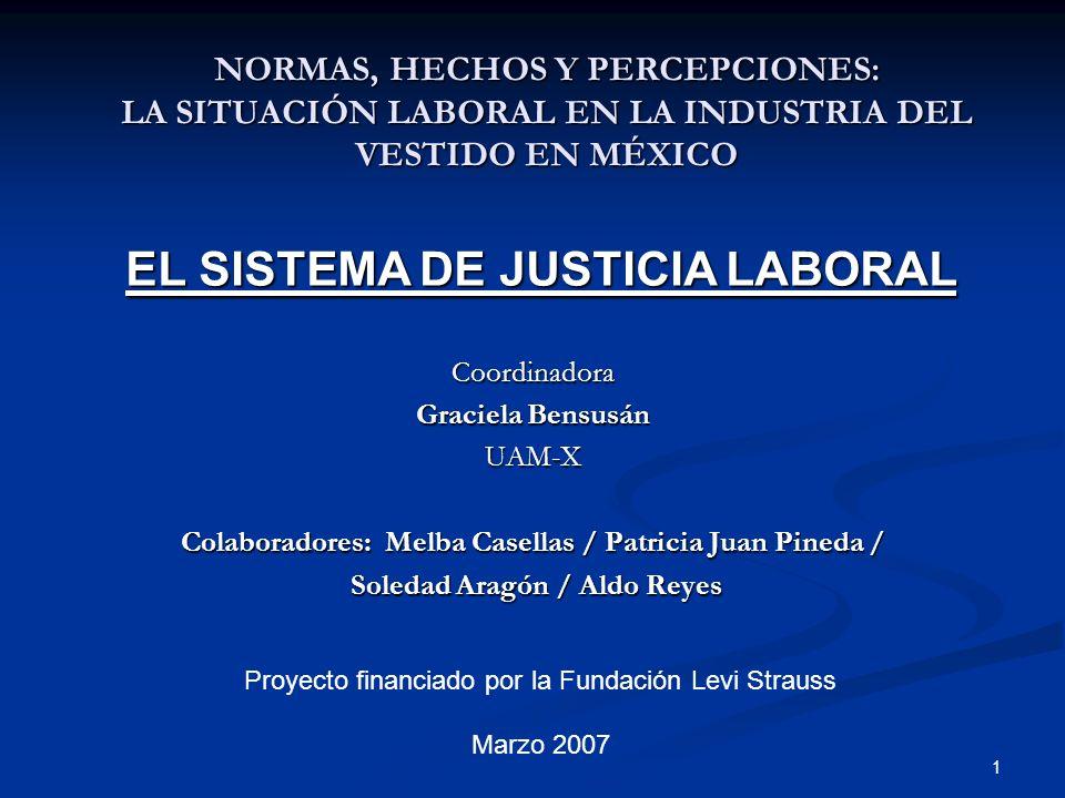 EL SISTEMA DE JUSTICIA LABORAL
