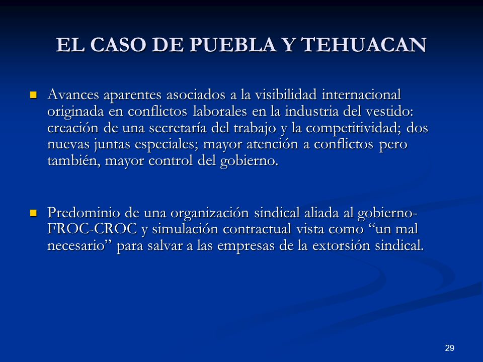EL CASO DE PUEBLA Y TEHUACAN