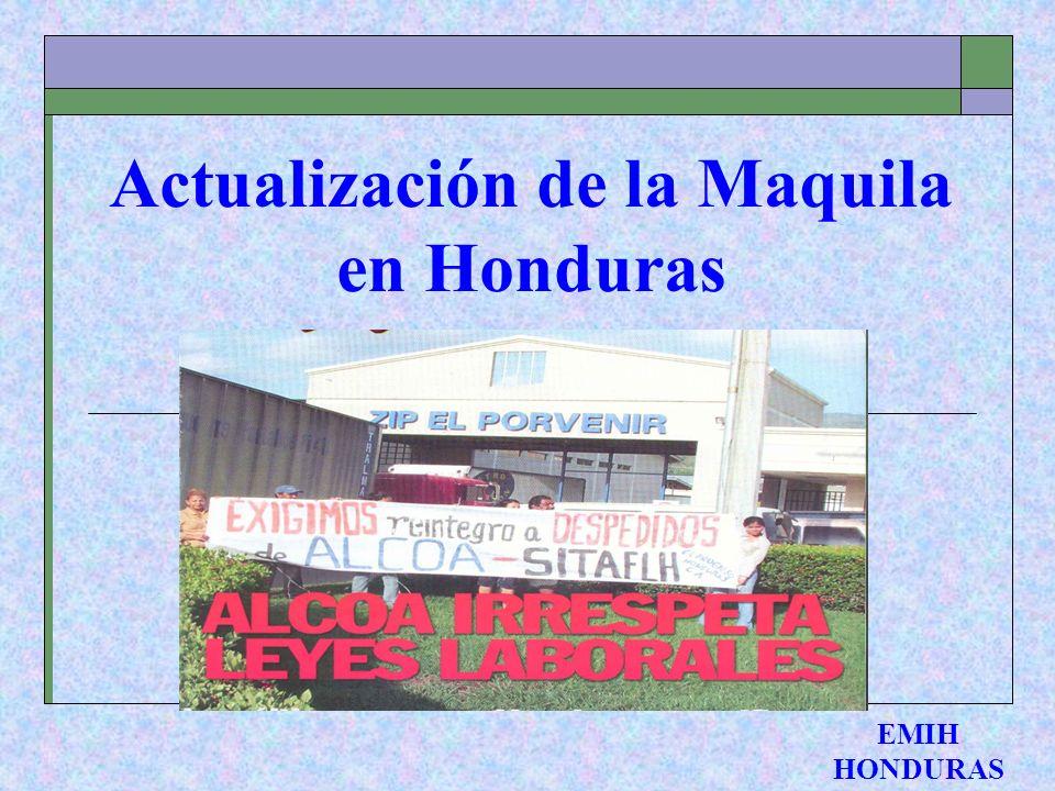 Actualización de la Maquila en Honduras