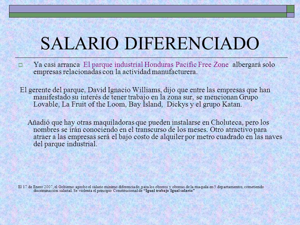 SALARIO DIFERENCIADO