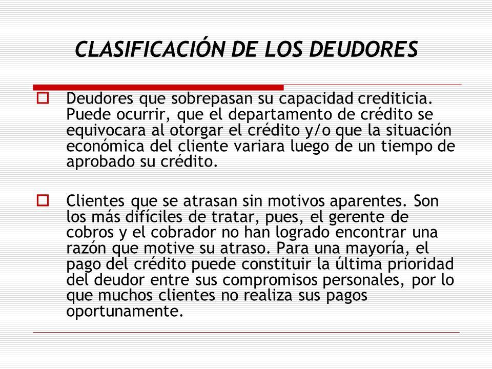 CLASIFICACIÓN DE LOS DEUDORES