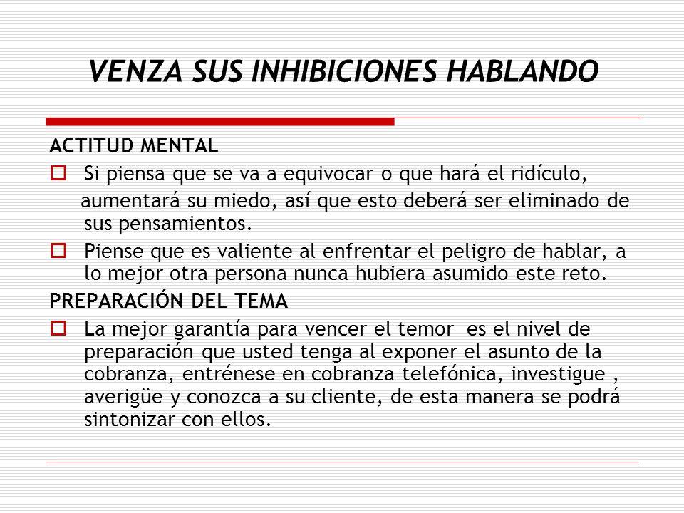VENZA SUS INHIBICIONES HABLANDO