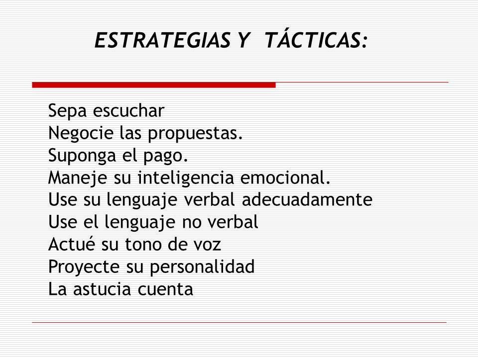 ESTRATEGIAS Y TÁCTICAS: