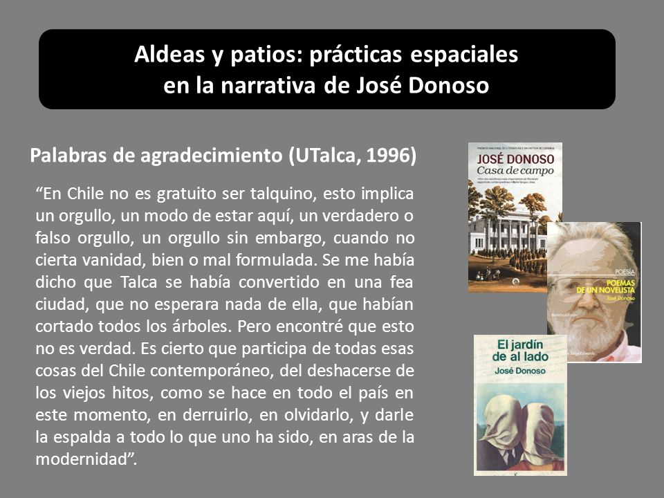 Paseo by Jose Donoso?
