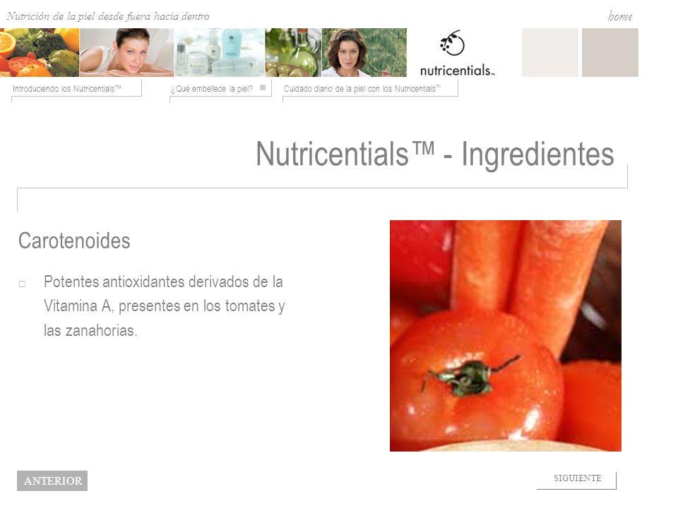 Nutricentials™ - Ingredientes