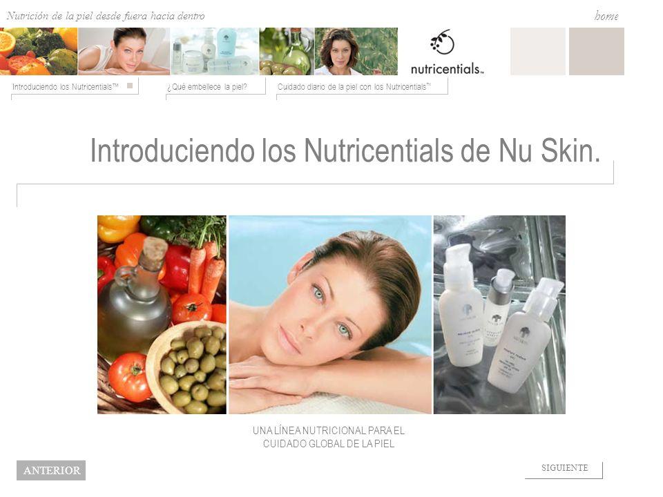 Introduciendo los Nutricentials de Nu Skin.