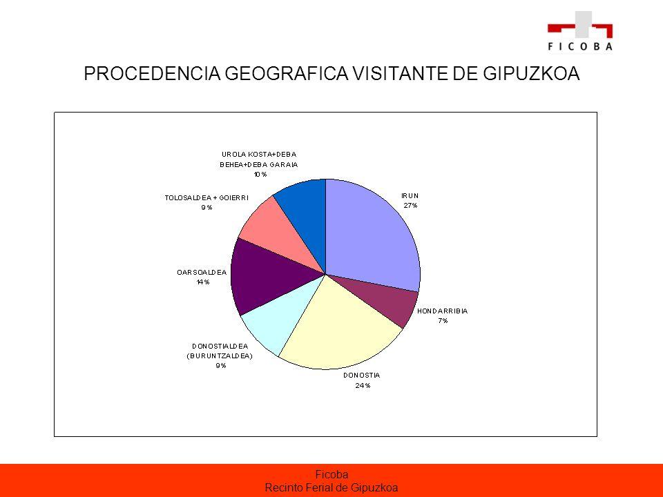 PROCEDENCIA GEOGRAFICA VISITANTE DE GIPUZKOA