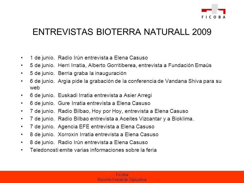 ENTREVISTAS BIOTERRA NATURALL 2009