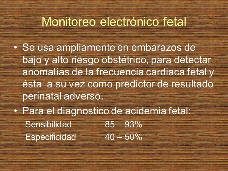 Monitoreo electrónico fetal