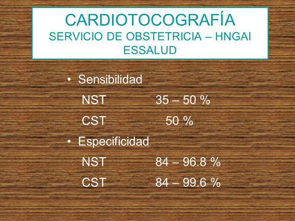 CARDIOTOCOGRAFÍA SERVICIO DE OBSTETRICIA – HNGAI ESSALUD