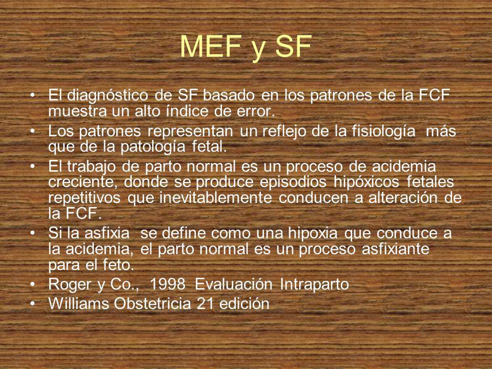 MEF y SF El diagnóstico de SF basado en los patrones de la FCF muestra un alto índice de error.