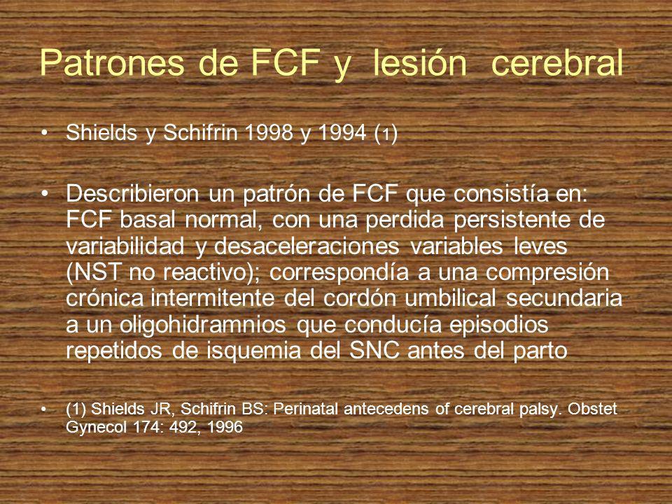 Patrones de FCF y lesión cerebral