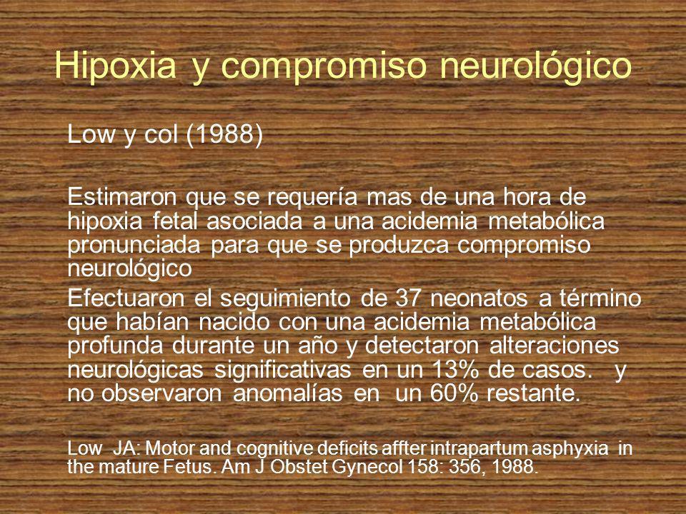 Hipoxia y compromiso neurológico