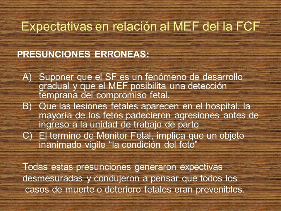 Expectativas en relación al MEF del la FCF