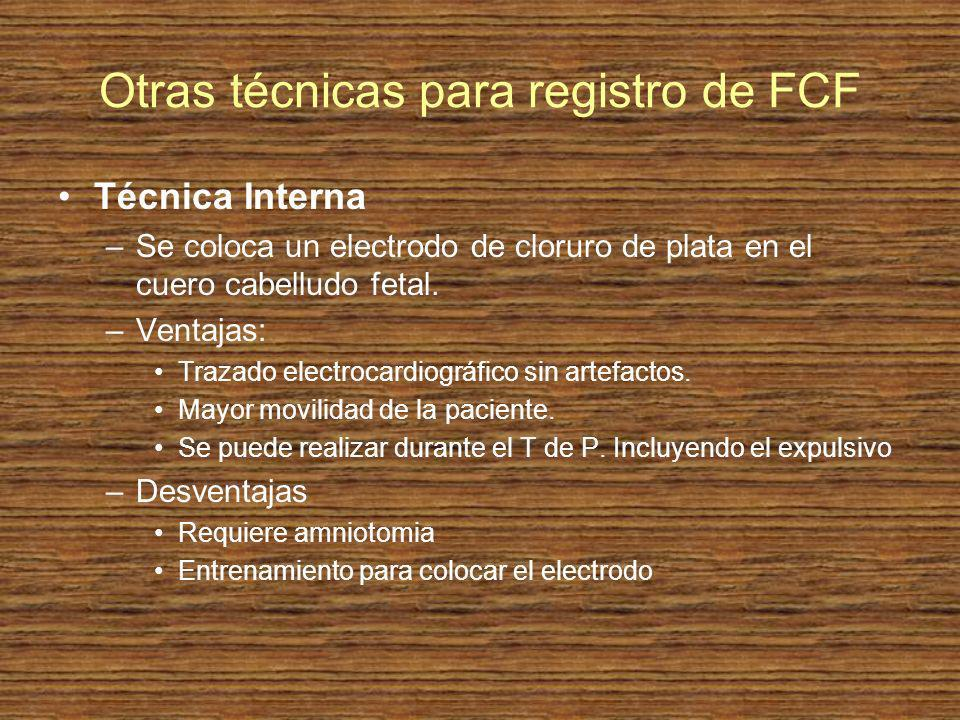 Otras técnicas para registro de FCF