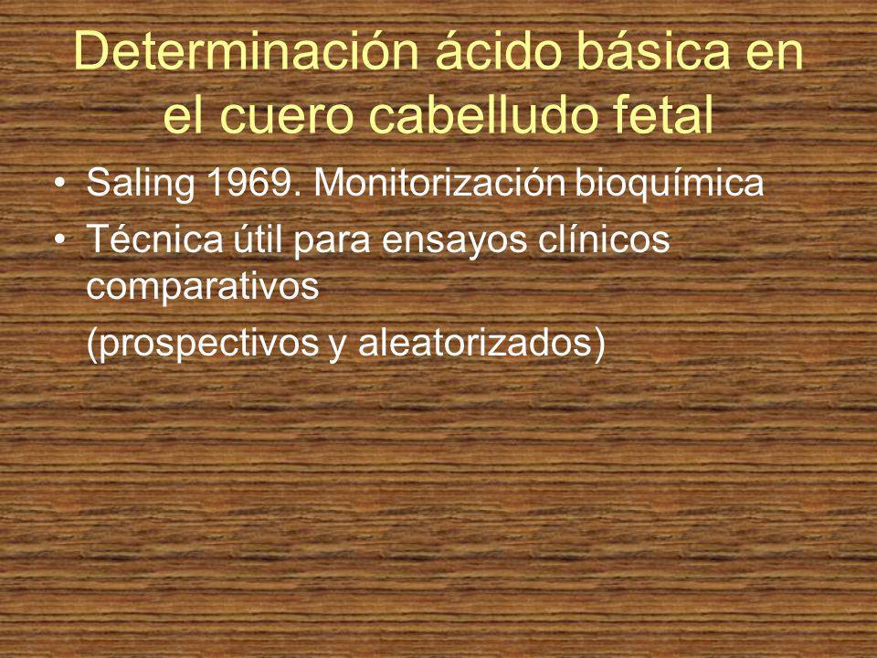 Determinación ácido básica en el cuero cabelludo fetal