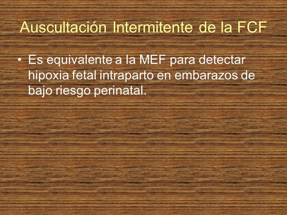 Auscultación Intermitente de la FCF