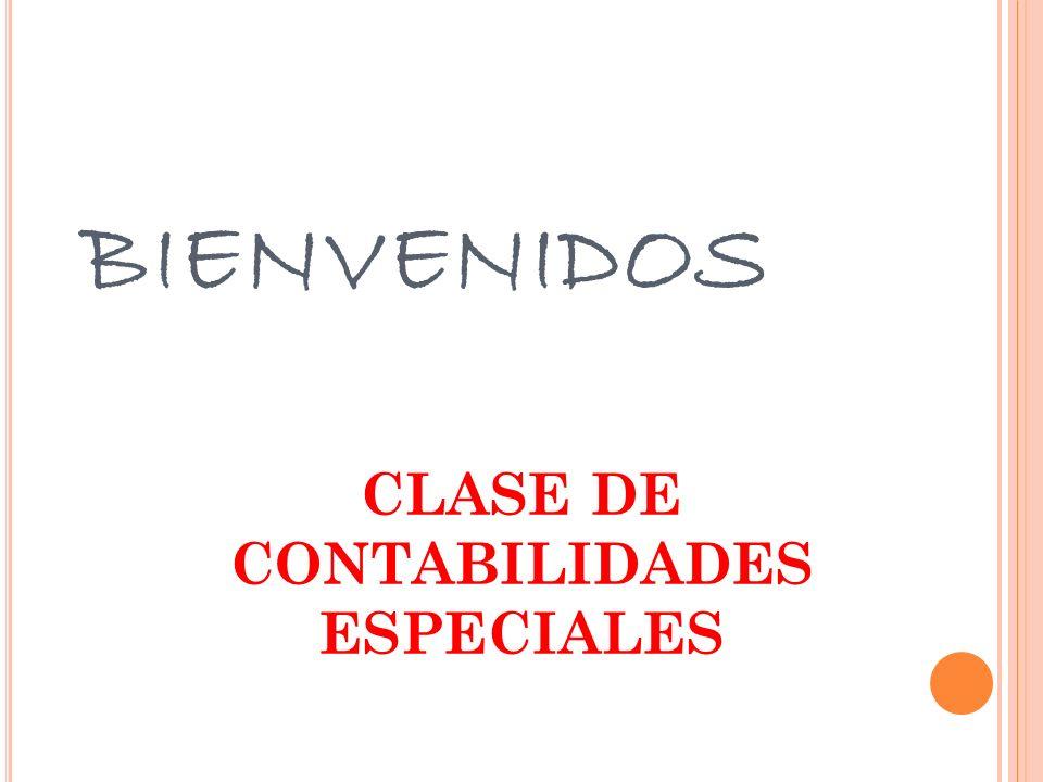 CLASE DE CONTABILIDADES ESPECIALES