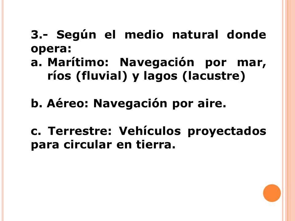 3.- Según el medio natural donde opera: