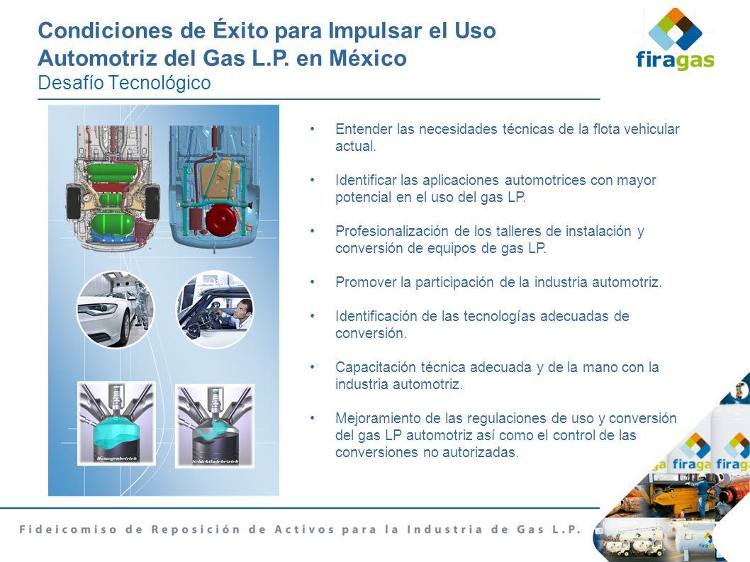 Condiciones de xito para impulsar el uso automotriz del for Instalacion de gas lp