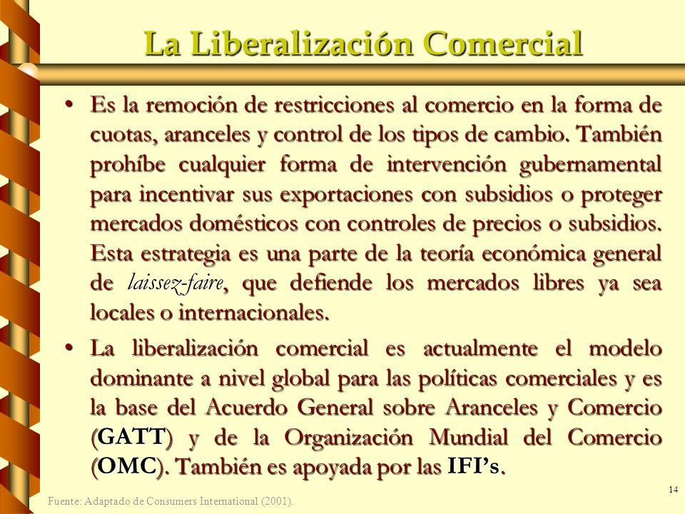 La Liberalización Comercial