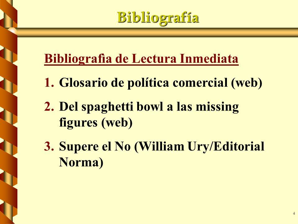 Bibliografía Bibliografìa de Lectura Inmediata