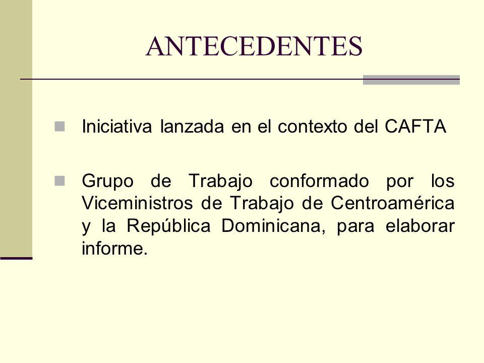 ANTECEDENTES Iniciativa lanzada en el contexto del CAFTA