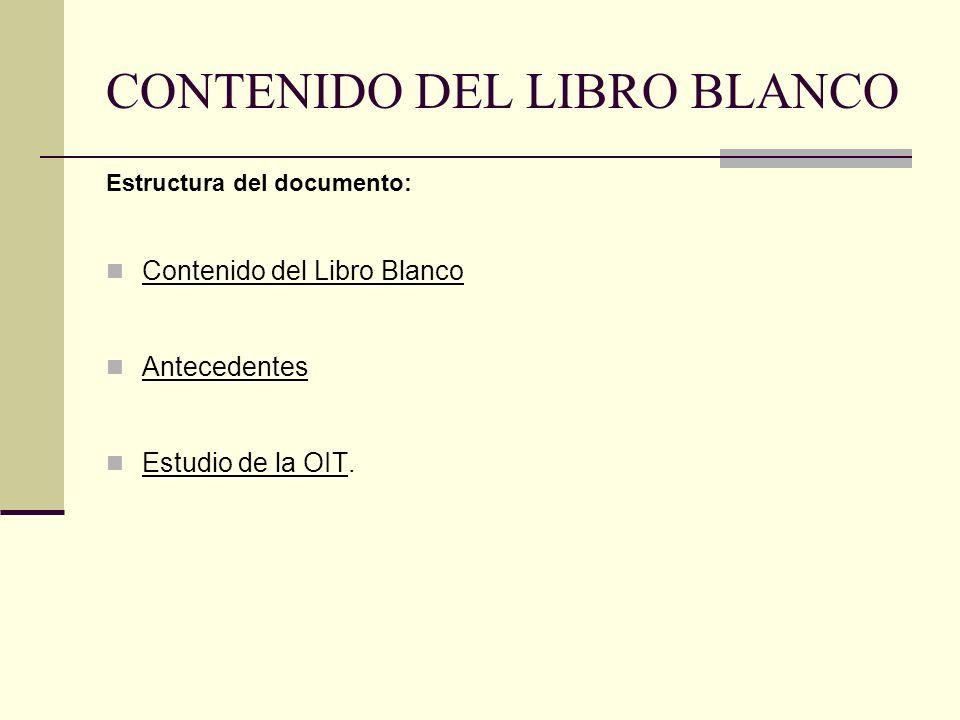 CONTENIDO DEL LIBRO BLANCO