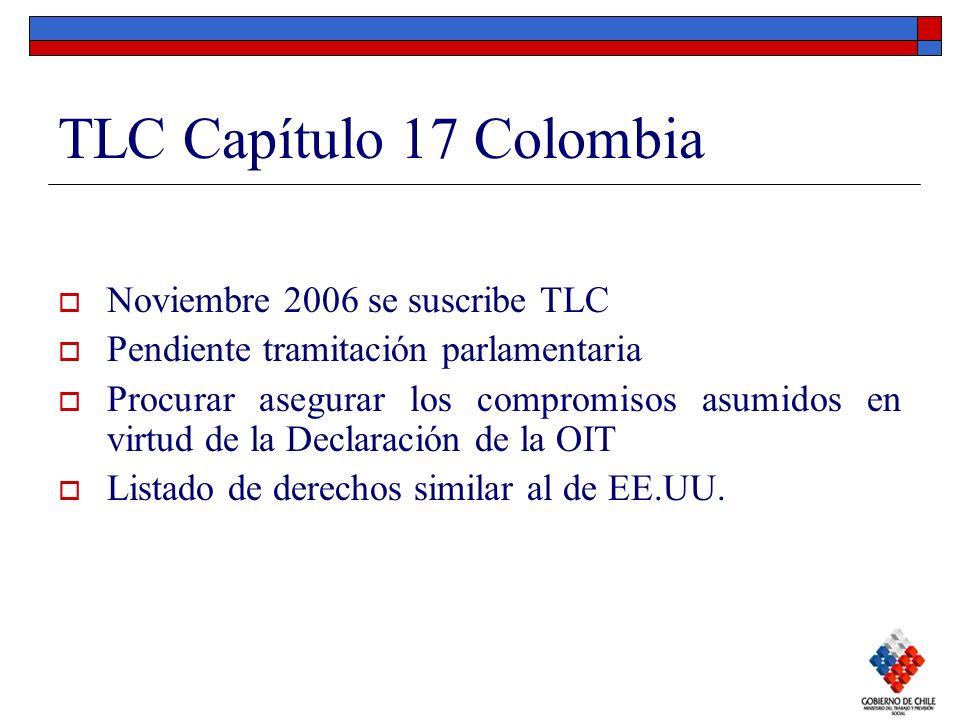 TLC Capítulo 17 Colombia Noviembre 2006 se suscribe TLC