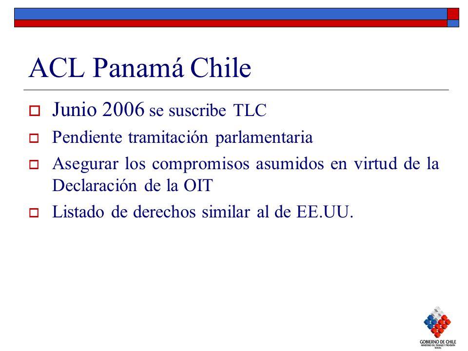 ACL Panamá Chile Junio 2006 se suscribe TLC