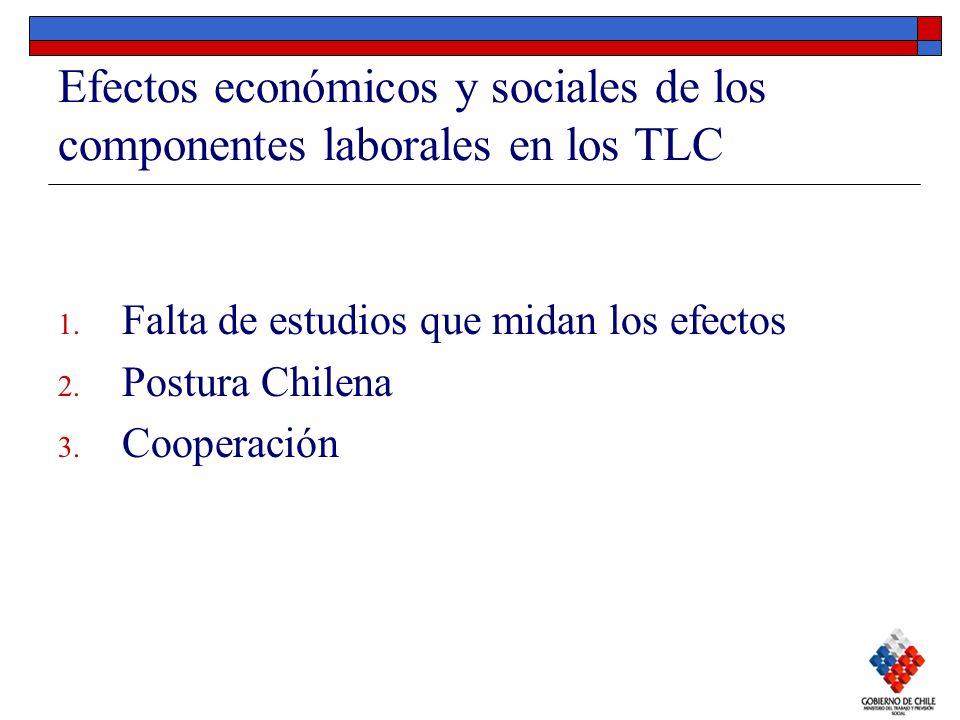 Efectos económicos y sociales de los componentes laborales en los TLC