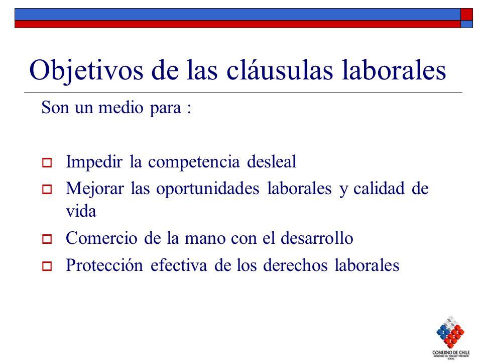 Objetivos de las cláusulas laborales