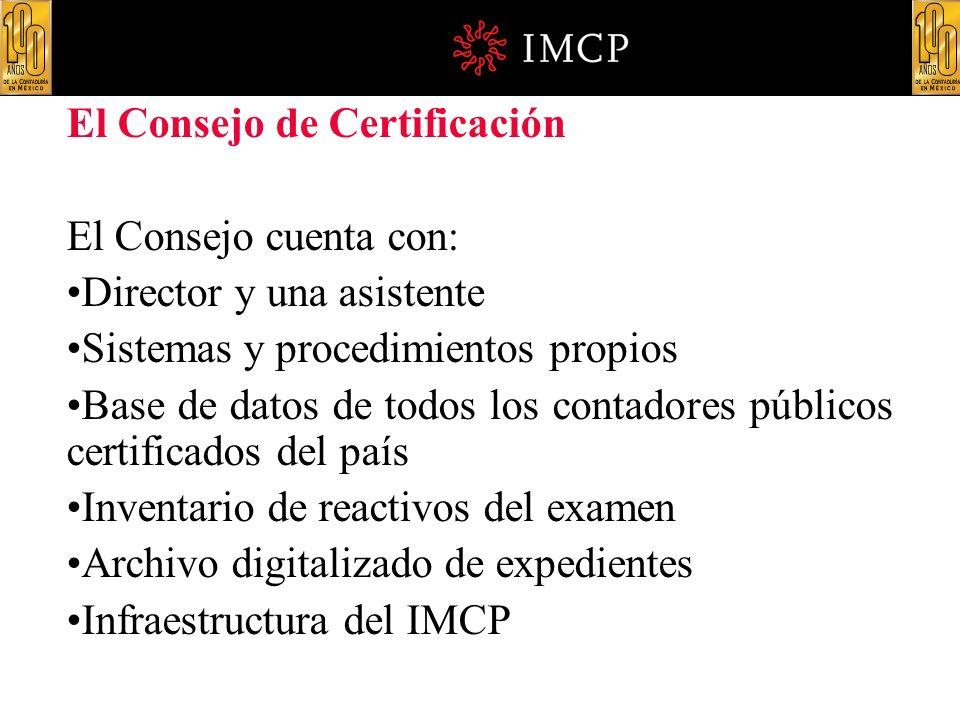 El Consejo de Certificación