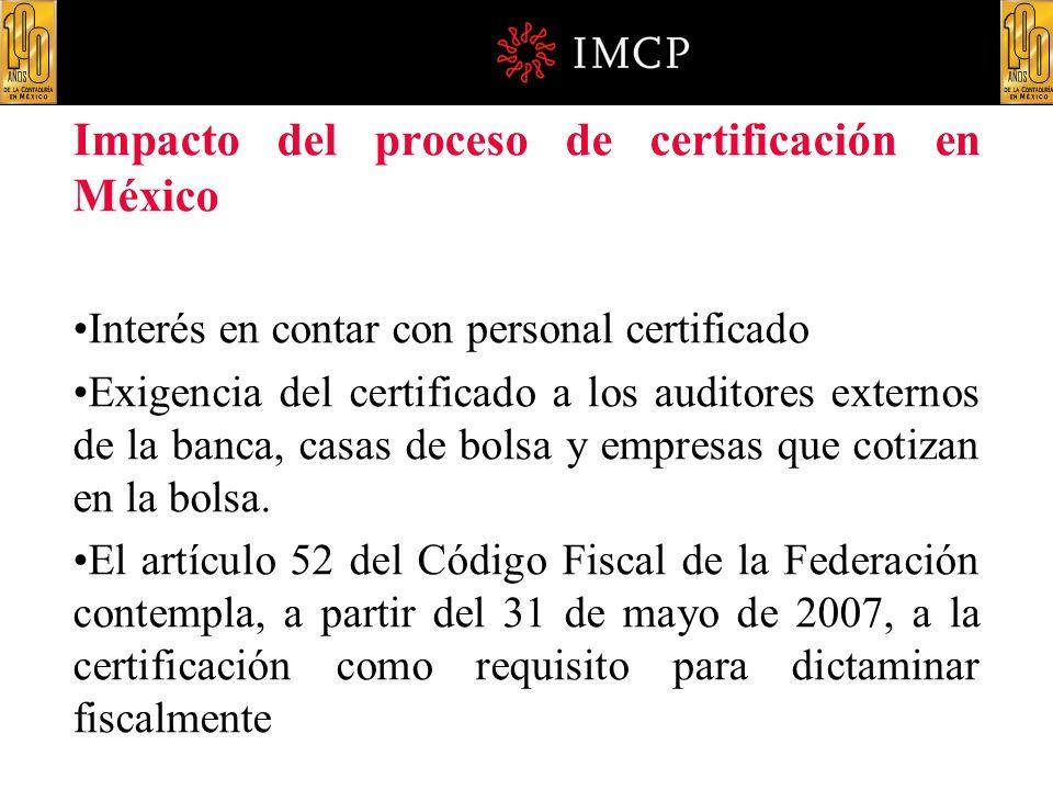 Impacto del proceso de certificación en México