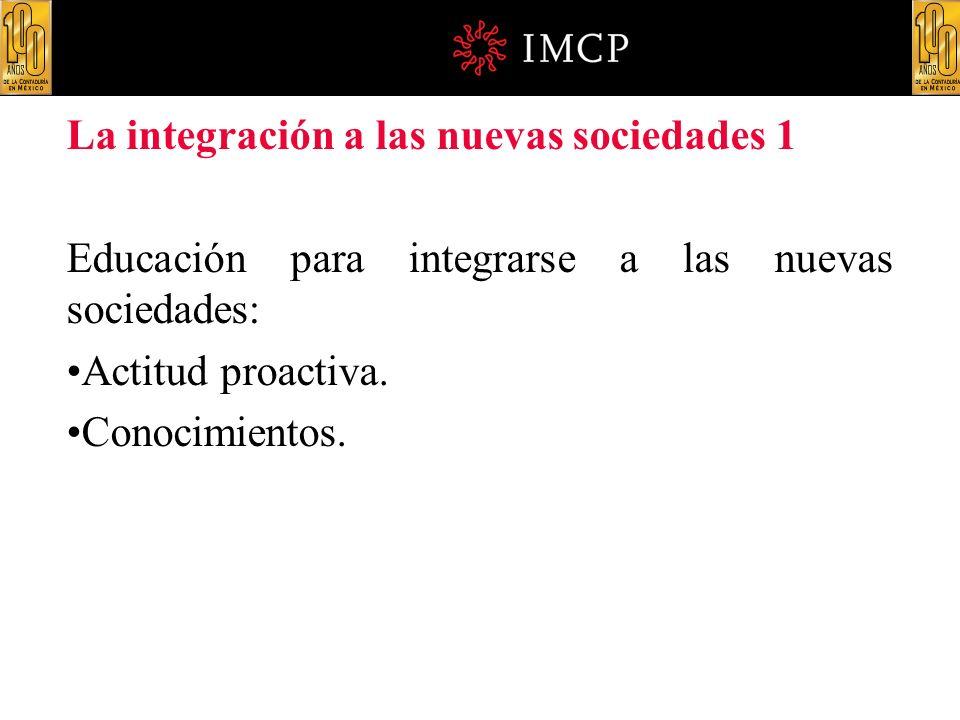 La integración a las nuevas sociedades 1