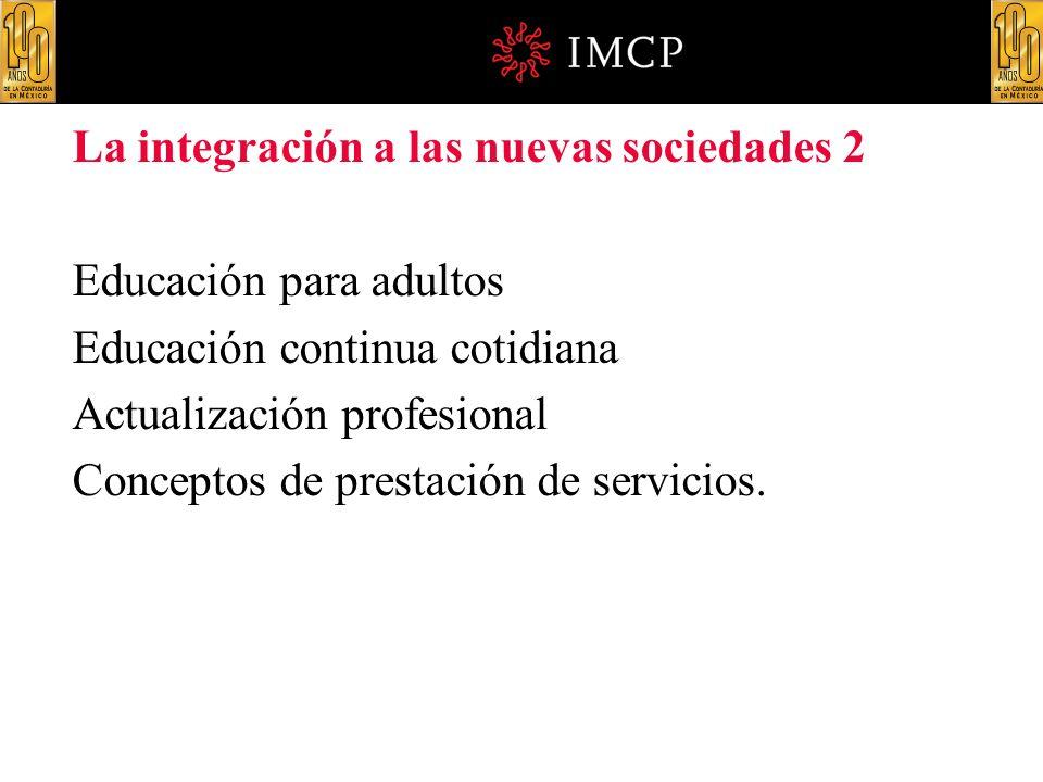 La integración a las nuevas sociedades 2