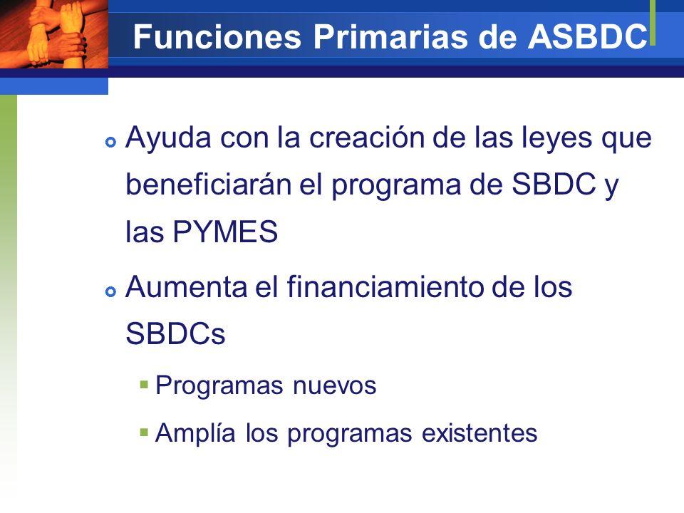 Funciones Primarias de ASBDC